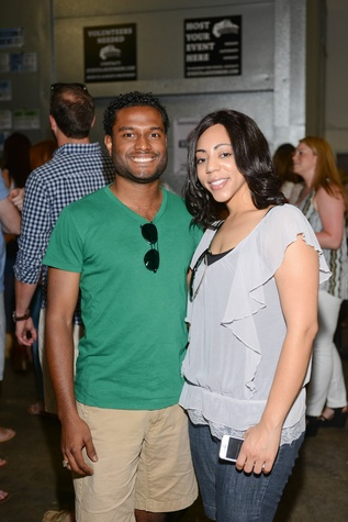 22. Felix Campos and Tiffany Abdullahi at the Bayou Preservation Association Herons party June 2014