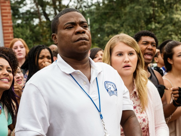 Tracy Morgan and Jillian Bell in Fist Fight