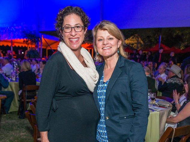 24 Laura Spanjian, left, and Susan Christian at the Nature Conservancy 50th anniversary October 2014