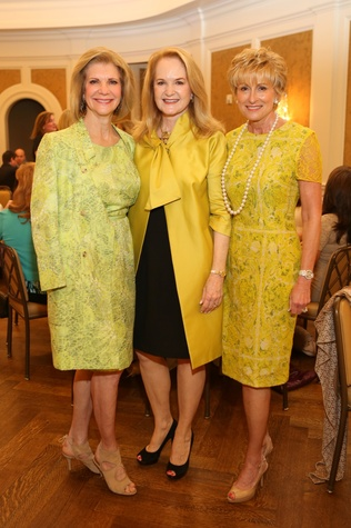 Kim Tutcher, from left, Sandy Barrett and Dr. Veronica Selinko-Curran at the St. Luke's Friends of Nursing luncheon March 2015