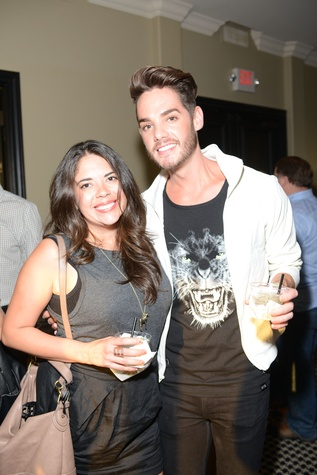 Nora Villarreal and Casey Clay at the ZooZa Event at Hotel ZaZa August 2014