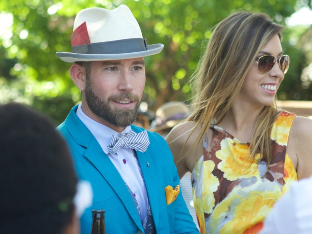 Best Dressed Man Dean Somes, Hanna Quest, LPJC Day at the Races
