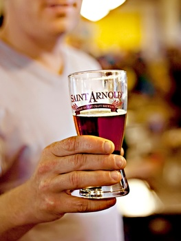 Saint Arnold, beer, beer mug, Mistletoe Madness, December 2012