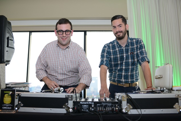 Stewart Anderson, left, and Joe Ross at the ZooZa Event at Hotel ZaZa August 2014