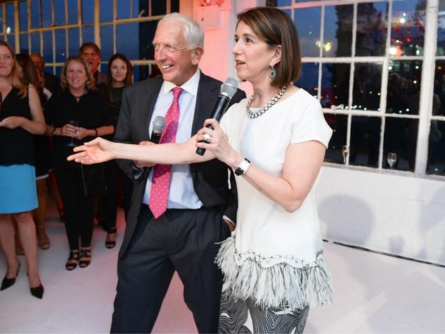 Karen Katz and Stephen Ross at Neiman Marcus party