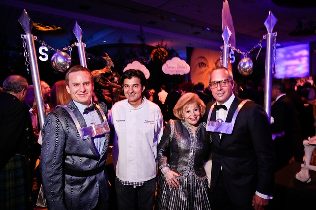 Jason Reeves, from left, Philippe Schmit, Marriet Gurtner and Mark Sullivan at DREAMSCAPE The Orange Show's 32nd Annual Gala November 2013
