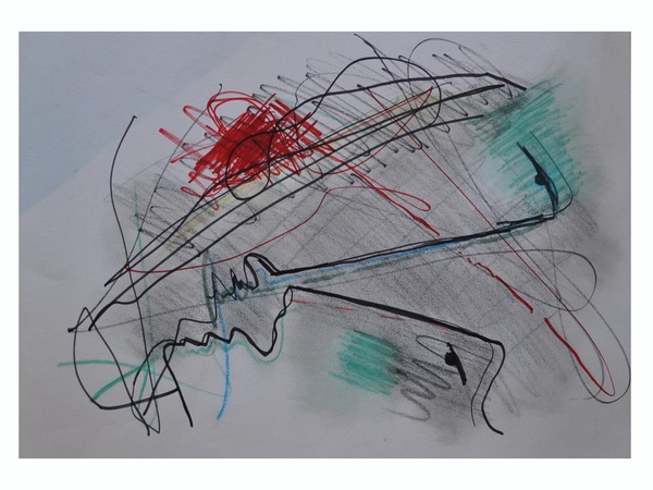 News_La Colombe d'Or Art Gallery_May 2012_Francesco Caraccio_Untitled_Mixed media on paper