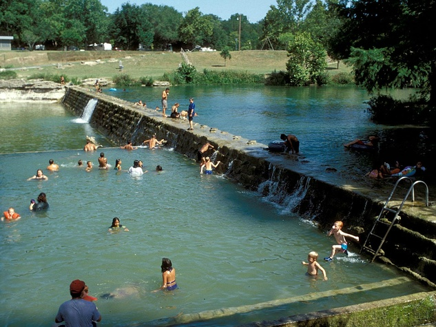 Blanco State Park Blanco River swimming watering hole