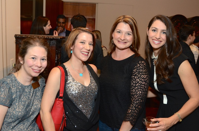 Stephanie Niemeyer, from left, Stacey Havel, Michelle Barnes and Sara Edwards at the Rienzi Punch Party October 2014