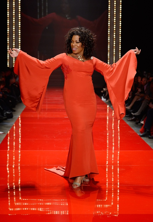 Actress Lorraine Toussaint walks the runway at the American Heart Association's Go Red For Women Red Dress Collection 2017