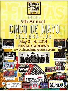 poster for Fiestas Patrias 2014 Cinco de Mayo celebration