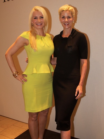 20 Ludmilla Luman, left, and Paula Mott at Dress for Dinner March 2014