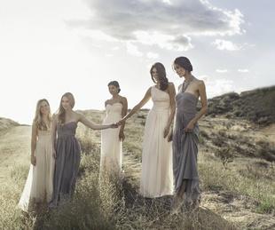 Monique Lhuillier bridesmaids gowns