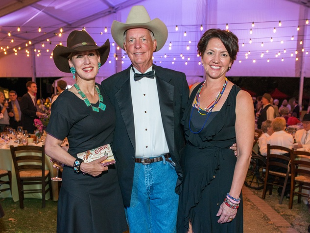 14 Clayton and Shel Erikson, from left, with Laura Huffman at the Nature Conservancy 50th anniversary October 2014