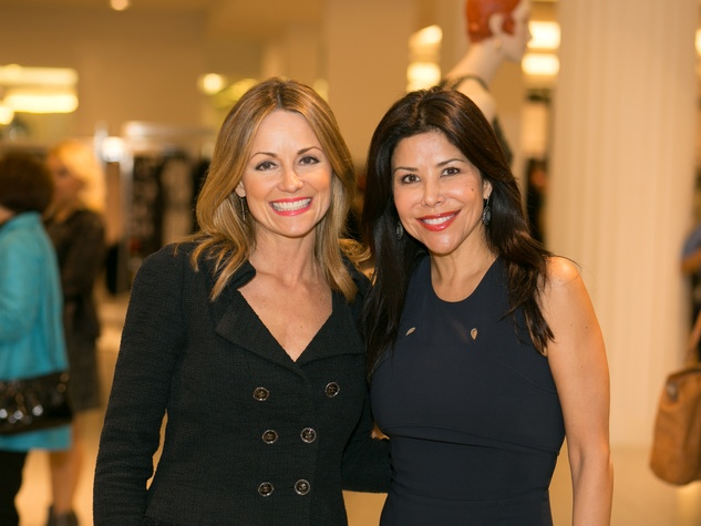 Lucinda Loya, left, and Ericka Bagwell at the Latin Women Initiative's kick-off luncheon February 2014