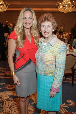Rachel Regan, left, and June Stobaugh at the Houston Hospice butterfly luncheon April 2015