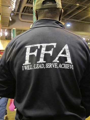 Katie Oxford Houston Rodeo FFA March 2015 Eric Smith (father of FFA member) from Marion, Texas