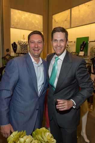 M Penner Magazine launch party April 2013 Hunter Craft and Will Womble