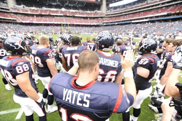 T.J. Yates pregame