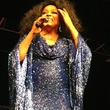 Diana Ross in blue dress November 2013