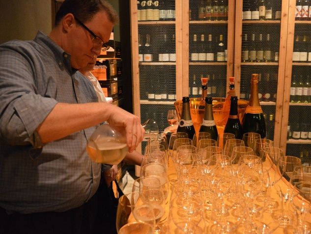 Davon, Champagne Friday, Veuve Cliquot dinner, October 2012, The Tasting Room Uptown, wine manager Gary Lapuyade