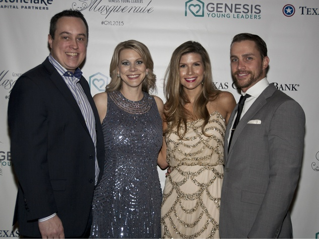 Event Co chairs Mark, Heather LeClair and Marybeth and Kevin Conlon, Masquerade