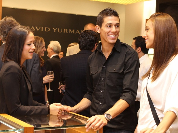 Matt Schaub David Yurman party, June 2012, Joanna Ortiz, Steven Lopez, Diana Lopez