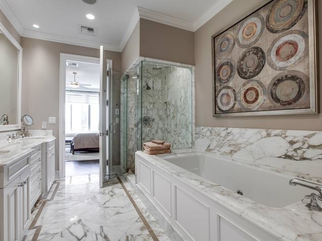 Bathroom at Ritz-Carlton #702 in Dallas