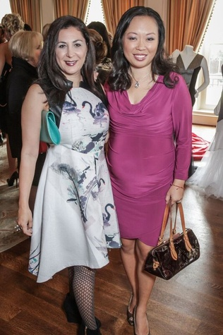 Deborah Elias, Miya Shay at Passion for Fashion luncheon