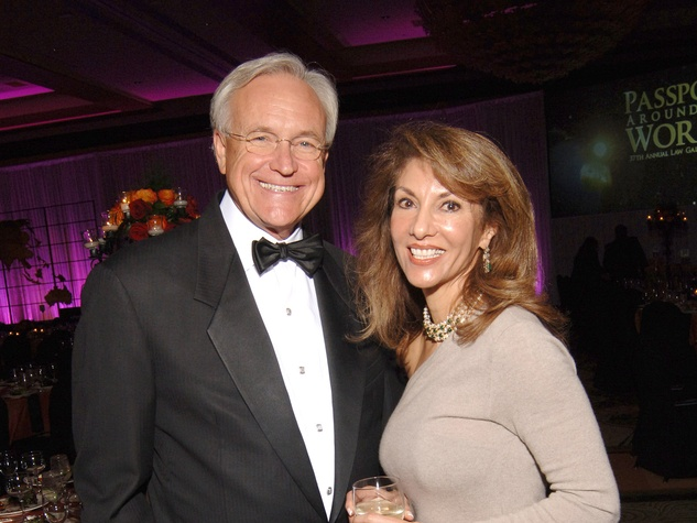 391 University of Houston Law Center Gala April 2013 Bill King and Neda Ladjevardian