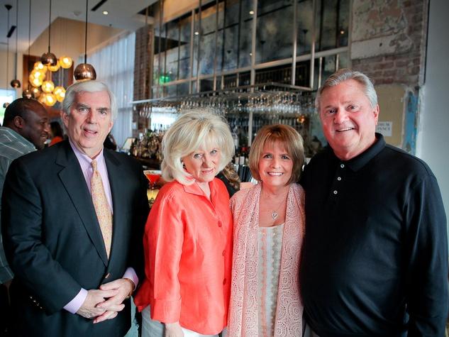 Triniti Mercury spring dinner, April 2013, Bob Burdette, Wanda Donaldson, Herb Hildebrand, Margo Hildebrand