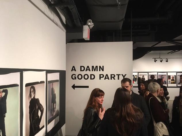 Damn Good Party sign at Rag & Bone party