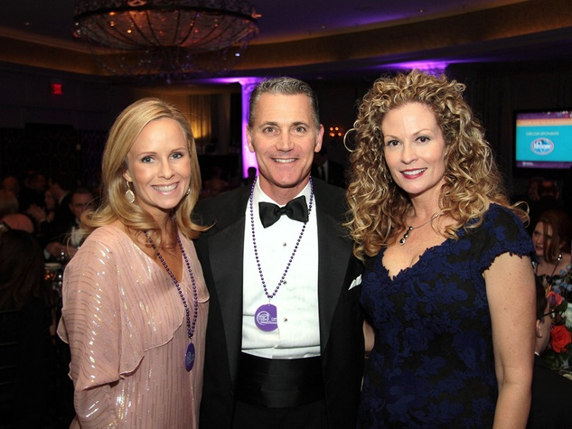 Catherine and Chris Hanslik, from left, and Pam Helm at the Devereux Gala February 2014