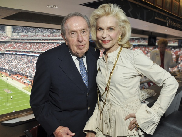 Texans Owners Suite, September 2012, Oscar Wyatt, Lynn Wyatt