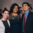0083 17 Courtney Fretz, from left, with Vivek and Ishwaria Subbiah at the Houston Symphony's Young Associates Council season kick-off August 2014