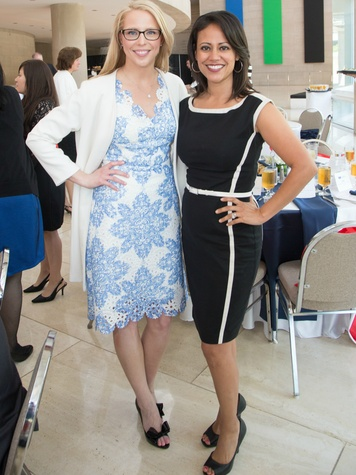 Cachet Petty Weinberg, Luncheon Chair; Cynthi a Izaguirre, WFAA Channel 8  newscaster and emcee , FWC Luncheon