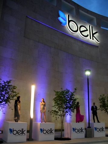 belk exterior, grand opening, gala