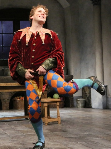 Jeremy Webb as Stuart in the Alley Theatre's production of Fool
