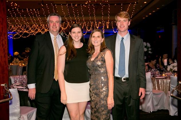 HAWC Gala, May 2015, Tom, Lily, Jenny and Charlie Fitzpatrick