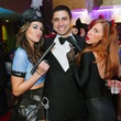 23 Jennifer Martinez, from left, Sheik Waleed and Daniela Iosa at the CultureMap Halloween party at Mr. Peeples October 2013