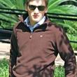 M. Wiesenthal Men's Collection model with pullover and button-down shirt
