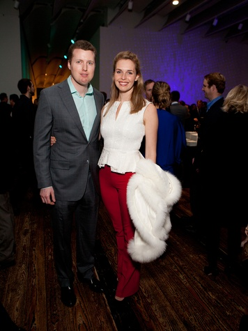 8 Wirt Blafer and Nina Delano at the Menil Young Professionals party December 2013