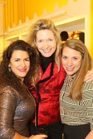 News, Ellevate Network party, Dec. 2015, Rosa LaNeve, Caroline Allison, Karen Vaughn