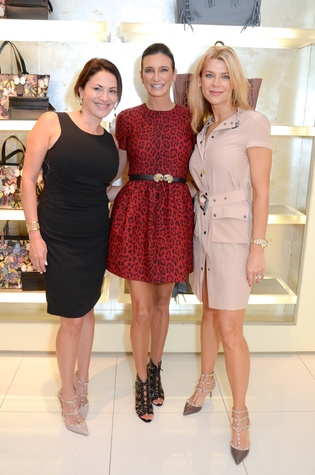 Katherine Treistman, from left, Melissa Mithoff and Tatiana Green at the Una Notte in Italia lunch at Valentino September 2014