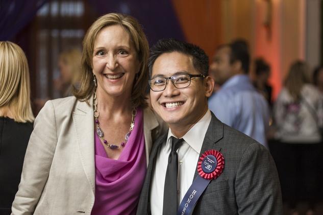 39 Jenifer Paneral and John Dang at the HAA inaugural 40 under 40 party September 2014