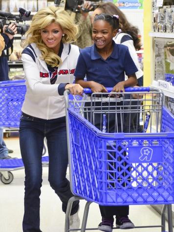 Texans cheerleader cart ride