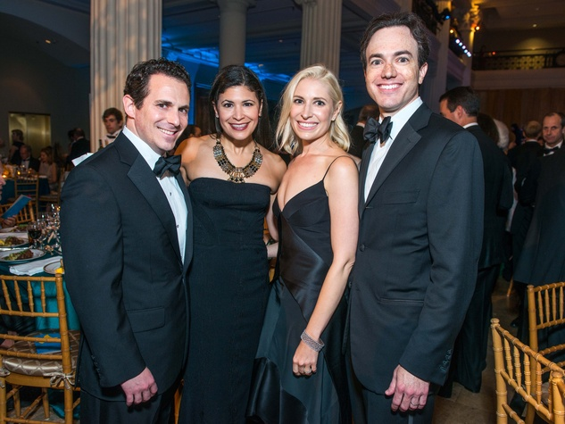 22 Chris and Kristy Bradshaw, from left, and Isabel and Danny David at Houston Symphony Opening Night Gala September 2014