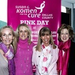 Lori Plum, Tracy Austin, Jan Osborn and Honorary Chair Mary Evelyn Raedisch, the challenger of dallas pink day