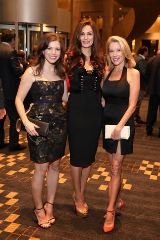 Claudia Olman, Brigitte Kalai, Kristy Hamilton at Una Notte de Italia gala