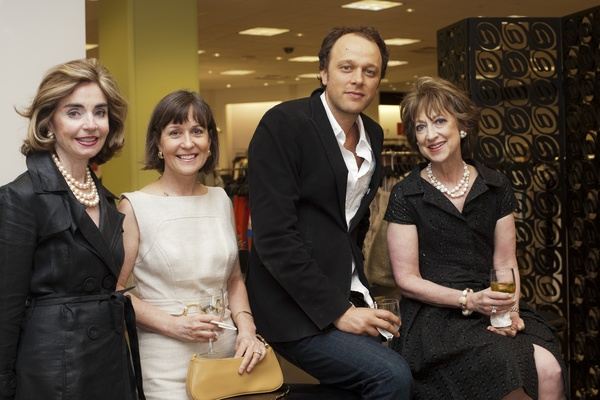 Houston Symphony tea at Saks, June 2012, Mathilde Leary, Meredith O&#39;Donnell, Fabrice Pinot, Gloria Tenebown